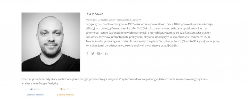 Jakub Sawa newsletter
